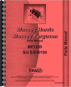 Massey Ferguson 1250 Tractor Parts Manual sn 0 E50 100