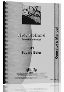 New Holland 311 Baler Operators Manual Nh o 311blr