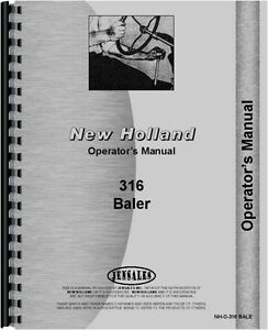 New Holland 316 Baler Operators Manual