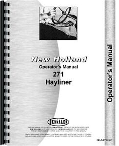 New Holland 271 Baler Operators Manual