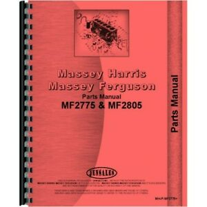 Massey Ferguson 2775 2805 Tractor Parts Manual mh p mf2775