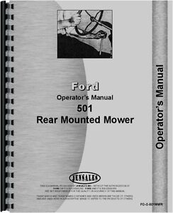 Ford 501 Sickle Bar Mower Operators Manual Fo o 501mwr