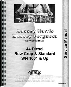 Massey Harris 44 Tractor Service Manual Diesel