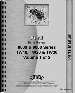 Ford 8000 9000 Series Tractor Parts Manual fo p 8000 9000