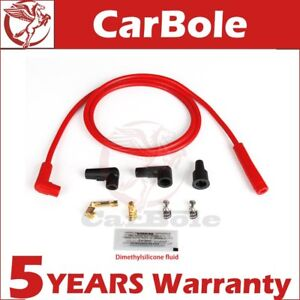 Universal Red 8mm Silicone Red Spark Plug Ignition Wire Set 170500r Us Stock