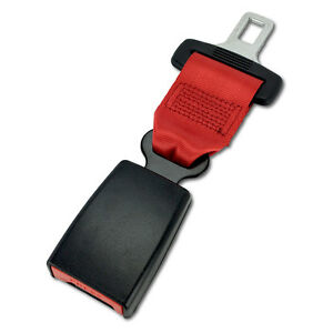7 Click In Seat Belt Extender Type S Red E4 Safe