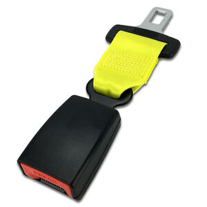 7 Click In Seat Belt Extender Type L Yellow E4 Safe