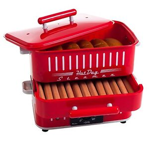 Retro Vibe Cuizen Red Hotdog Steamer Grill Bun Warmer St1412 Cart Free Shipping