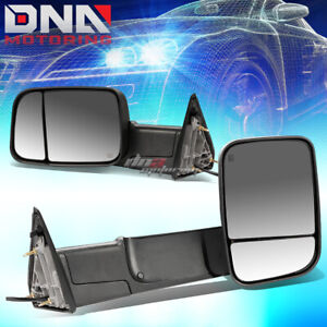 For 13 16 Dodge Ram 1500 3500 Truck Power Heated Rear View Towing Mirror Pair