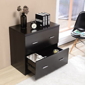 Lateral File Cabinet Storage Drawers For Home Office Furniture In Black Finish