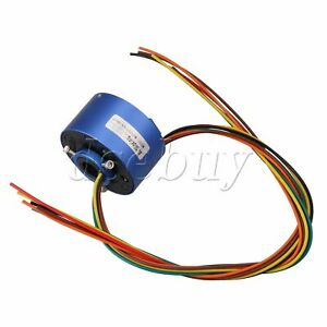 Blue 6 Wires 12 7mm Diameter 380v 10a Metal Via Hole Capsule Slip Ring