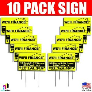 10x We ll Finance No Banks Signs Your Phone Number And Website Real Estate