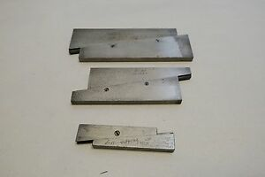 Starrett Adjustable Parallels Set Of Three No 154 c No 154 e No 154 f