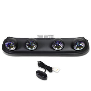 4x4 Black Frame Neo Clear Lens Off road Roof Top Round Fog Light lamp switch