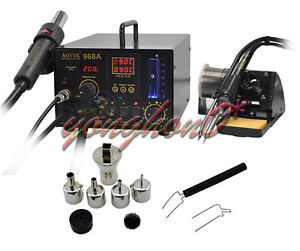 1pcs New Aoyue Int968a Hot Air Soldering Station 110v