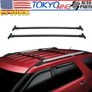 Roof Rack Top Rails Cross Bars For 2011 2012 2013 2014 2015 Ford Explorer