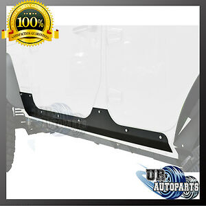 Steel Rocker Guard Body Cladding Protection Panel 07 18 Jeep Wrangler Jk 4 Door