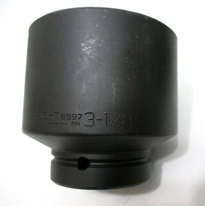 Wright Tool 8897 3 1 8 Impact Socket 1 Drive 6 point 3 1 8 In Made In Usa