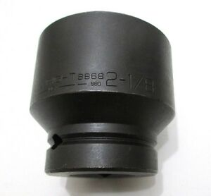 Wright Tool 8868 2 1 8 Impact Socket 1 Drive 6 point 2 1 8 In Made In Usa