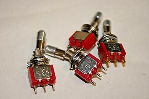 4 Pack Safety Locking Mini Toggle Switch Spdt On on 5a 28vdc 100 210