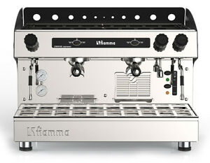 new Fiamma Caravel Commercial 2 Group Espresso Cappuccino Machine