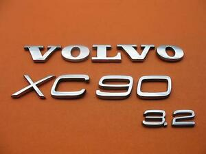 03 14 Volvo Xc90 3 2 Rear Gate Lid Chrome Emblem Logo Badge Sign Symbol Oem Set