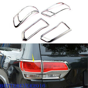 Chrome Tail Light Rear Lamp Cover Molding Trim For 2014 2020 Jeep Grand Cherokee