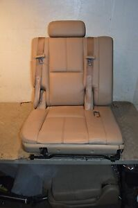 07 13 Tahoe Suburban Yukon Third Row Seat 3rd oem leather tan
