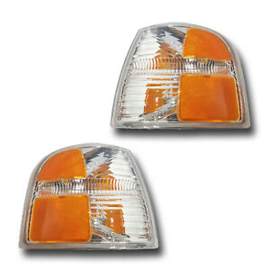 Fits 02 04 Ford Explorer Left Right Turn Signal Parking Light Assembly 1 Pair