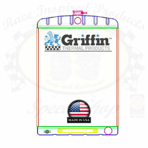 Griffin Universal Rat Rod Radiator W Automatic Transcooler 19x27 5 Tcbr 1 70212