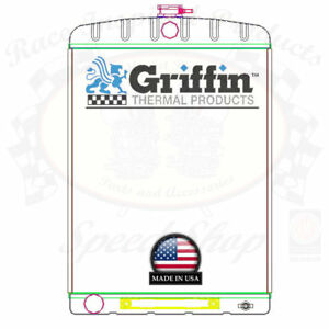 Griffin Universal Rat Rod Radiator W Automatic Transcooler 19x27 5 Tcbl 1 70213