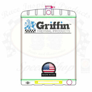 Griffin Universal Rat Rod Radiator W Automatic Transcooler 19x26 Tcbr 1 70210