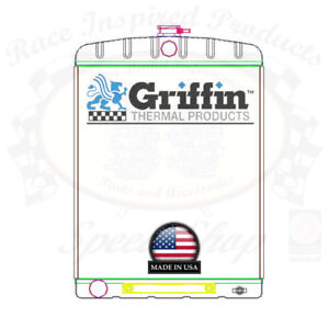 Griffin Universal Rat Rod Radiator W Automatic Transcooler 19x26 Tcbl 1 70211