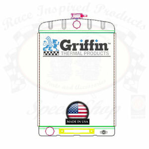 Griffin Universal Rat Rod Radiator W Automatic Transcooler 16x24 Tcbl 1 70217