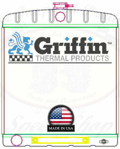 Griffin Universal Rat Rod Radiator W Automatic Transcooler 18 9x22 Tcbl 1 70207