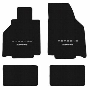 Porsche 944 Floor Mat Set Choose Logo Black Front Logo Only