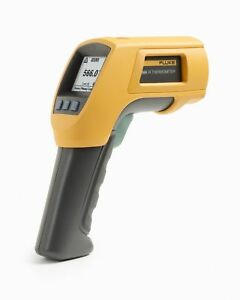 Fluke 566 Dual Infrared Thermometer 40 To 1202 Degree F Range Contact non