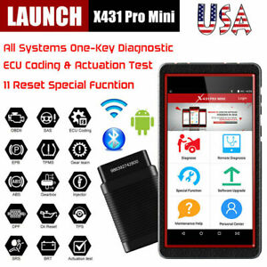 Launch X431 Pro Mini Full System Obd Diagnostic Scanner Abs Srs Sas Dpf Oil