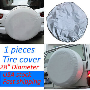 1pcs Silver Spare Wheel Tire Soft Cover Protector 26 27 28 For Honda Crv Cr V