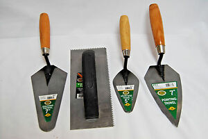 4 Assorted Varieties Sizes Of H b Smith Concrete Trowels new s7407