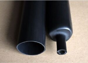 140mm Dual Wall Adhesive Lined 3 1 Black Heat Shrink Tubing Cable X 1 22m