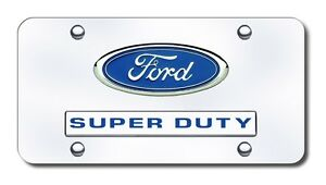 Ford Super Duty Logo Chrome Stainless Steel Standard Novelty Front License Plate