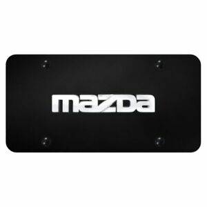 Mazda Logo Name On Black Standard Novelty Front License Plate Genuine Part