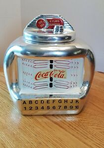 Coca-Cola Jukebox Large Cookie Jar 11 x 11 x 7 Ceramic Gibson 2003