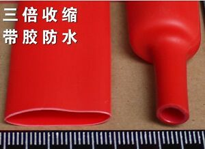 3 1 Dual Wall Heat Shrink Tubing Sleeve Cable Wire 15 4mm Adhesive Lined Red