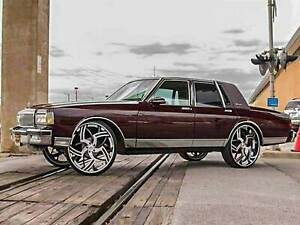 77 90 Box Chevy Donk Caprice Lift Kit Fit 28 26 24 Rims Tires On Impala