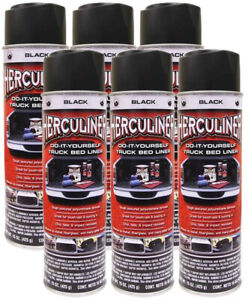 Peak Herculiner Black Spray On Truck Bed Liner 15 Oz 6 Pack Pekhalb15 6pk