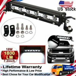 18w Led Working Light Bar Spot Ultra Thin Off Road Camping Extreme Outdoor Sport