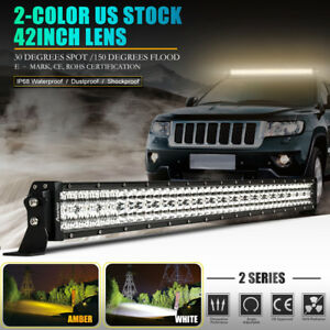 Cree 42inch 960w Led Work Light Bar Lens Curved Offroad Ford Truck Boat Atv Suv