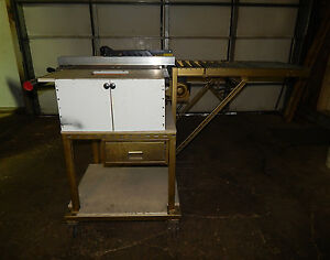 Powermatic Model 64 10 Artisan Saw With Small Attached Roller Conveyor